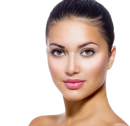 21564574 - beautiful face of young woman with clean fresh skin